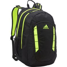 Image of adidas Excel Backpack Black Solar Yellow - adidas Laptop Backpacks 16bc957764
