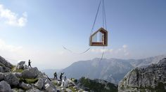 "prettyarchitecture: "" Alpine Shelter Skuta The extreme climatic conditions in the mountains introduce a design challenge for architects, engineers and designers. Within a context of extreme risk to environ­mental forces, it is important to design..."