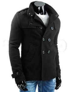 Pánský kabát DANTE - černý