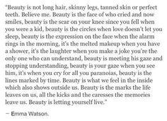 """""""Beauty is not long hair, skinny legs..."""""""