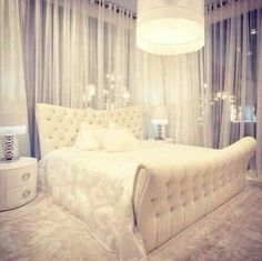 Most beautiful white bedroom I've ever seen. Simply perfect.