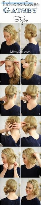Tuck And Cover Great Gatsby Style Tutorial
