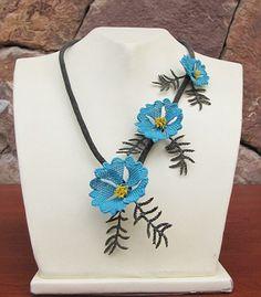 """Authentic Anatolian Needle Lace Pure Silk """"Akkaya"""" Necklace"""