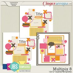 Multipix 8 Templates (Commercial Use)