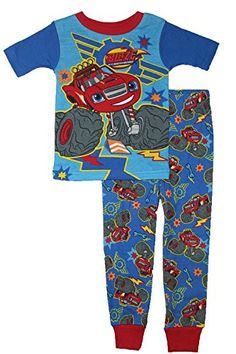 Nickelodeon Blaze and the Monster Machines Blaze Boys Snug Fit Pajamas 12 months