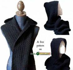 Crochet Hooded Scarf Free Pattern