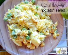 Cauliflower salad! Tastes like potato salad...but better for you!