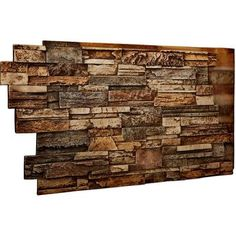 Ekena Millwork in. x 48 in. x 25 in. Geneva Urethane Dry Stack Stone Wall - The Home Depot Stone Siding Panels, Faux Stone Siding, Faux Stone Walls, Stacked Stone Walls, Stacked Stone Backsplash, Faux Stone Wall Panels, Faux Stone Veneer, Dry Stack Stone, Facades