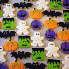 Here are the Halloween Cookie Decorating Ideas. This article about Halloween Cookie Decorating Ideas was posted under the Hallowen Decor Ideas category by our team at October 2019 at am. Hope you enjoy it and don't forget to . Halloween Desserts, Halloween Cupcakes, Cookie Halloween, Soirée Halloween, Halloween Sugar Cookies, Halloween Supplies, Halloween Party Favors, Halloween Goodies, Halloween Treats