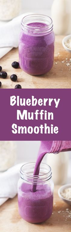Blueberry Muffin Smoothie / Raw, vegan & gluten-free / Food photography inspiration