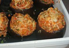 Aubergines farcies au quinoa Chez Vanda, Baked Potato, Muffin, Potatoes, Diet, Baking, Vegetables, Breakfast, Ethnic Recipes
