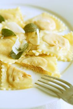 Chanterelle Ravioli with Sage Brown Butter