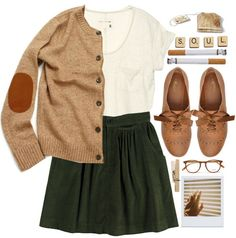Cozy librarian chic minus the cigarettes. Look Fashion, Winter Fashion, Fashion Outfits, Womens Fashion, Runway Fashion, Fashion Trends, Fall Outfits, Casual Outfits, Weird Outfits