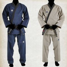 MOOSPO Black Open Taekwondo DAN Uniform Hapkido Akido Karate Martial Arts Sports