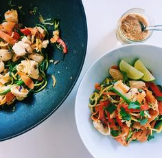 Pad Thai with Zoodles & a Spicy Peanut Sauce — balance with b