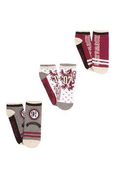 Primark - 3 Pack Harry Potter Shoe Liner Socks