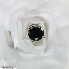 TheBridesBouquet.com - Bouquet Jewels (Black) - 3.5 Carat - Pack of 12 , $14.99
