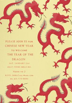 Year of the Dragon - 2012 by way of Paperless Post