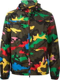 Shop Valentino camouflage print jacket in Biffi from the world's best… Camouflage Fashion, Camouflage Jacket, Camo Fashion, Camo Jacket, Print Jacket, Military Inspired Fashion, Military Fashion, Designer Clothes For Men, Designer Clothing