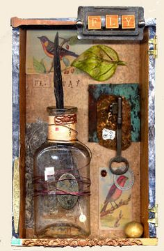 collage papers, altered art, transparencies, scrapbooking