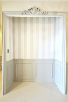 Curtain Box, Gray Interior, Interior Design, Store Design, Diy Wall, My Room, Building A House, Kids Room, Sweet Home