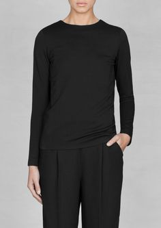 & Other Stories   Long-sleeved straight-fit top