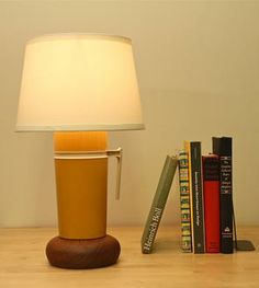 Vintage Yellow Thermos Lamp