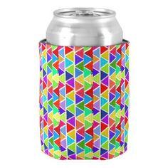 Geometric Multicolor Bottle / Can Cooler