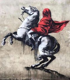 Banksy appears to have taken aim at France's politics with six new works in Paris. The new graffiti has popped up around the French capital over the past few days. Street Art Banksy, Banksy Graffiti, Arte Banksy, Banksy Artwork, Street Art News, Bansky, Street Artists, Banksy Paintings, Graffiti Artists