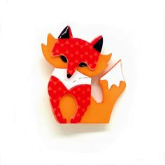 Fleur+the+Foxy+Flame+Brooch+by+Erstwilder Brooches, Winter, Pretty, Accessories, Cats, Jewelery, Brooch, Jewelry