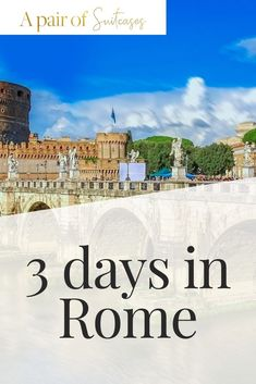 Have 3 days in Rome, Italy? Check out our list and get some fabulous ideas for your next trip to the home of the Roman empire Roma. Rome Itinerary, Travel Itinerary Template, European Destination, European Travel, Rome Travel, Italy Travel, 3 Days In Rome, Visit Venice, Italy Vacation