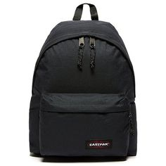 Eastpak Padded Backpack ($58) ❤ liked on Polyvore featuring bags, backpacks, midnight navy, navy blue backpack, navy bag, navy blue bag, eastpak bags and polyester backpack