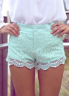 blue lace shorts... a little short tho lol