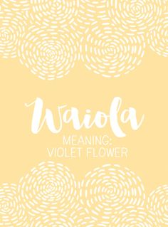 Simply Adorable Hawaiian Baby Names for Girls - Livingly Baby Girl Names Unique, Unique Names, Cool Names, Names Baby, Fantasy Character Names, Fantasy Names, Hawaiian Names, Hawaiian Baby, Hawaiian Words And Meanings
