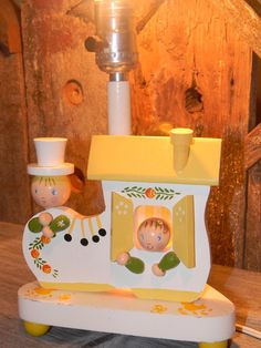 Irmi Nursery Lamp, Vintage Irmi Childs Lamp