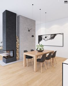 Hottest Absolutely Free corner Fireplace Inserts Concepts Looking to include a comfy contact home? Decor, Home Fireplace, Corner Fireplace, Dining Table, House Interior, Wooden Dinner Table, Wooden Tables, Interior Design Living Room, Living Design