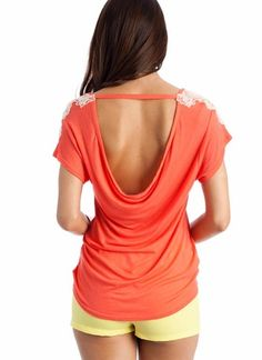 backless shirt..would show off my tattoo