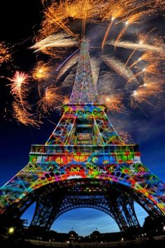 Colorful Eiffel