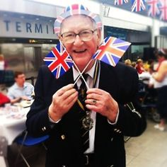On Friday we had our very own Diamond Jubilee street party at Gatwick Airport! Here's Jim getting into the patriotic spirit.