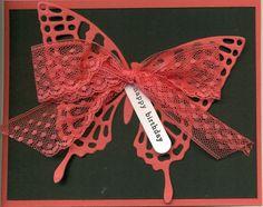 Watermelon Wonder, Butterfly Thinlits. Cased the design idea from Peggy at Pretty Paper Cards.