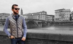 Men's Warm Diamond Quilted Down Gilet Urban Fashion, Mens Fashion, Men's Waistcoat, Body Warmer, Puffer Vest, Padded Jacket, Smart Casual, Vests, Layering