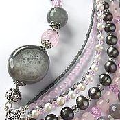 """Украшения ручной работы. Ярмарка Мастеров - ручная работа Колье """"Coty"""" с агатами и розовым кварцем. Handmade."""