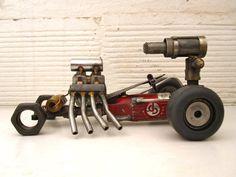 DIEgrinder, The hot rod die grinder killing machine.  Welded Metal Sculpture