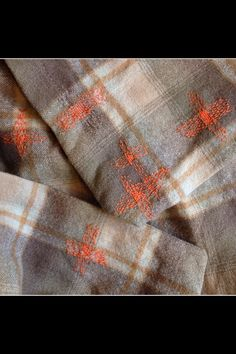 "Darning---clever idea--could be interpreted with machine embroidered ""darning"""