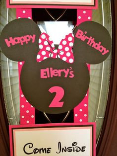 Personalized Minnie Mouse Birthday Door