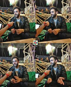 MARCO MENGONI GIVES INTERVIEWS IN PRESS CENTER