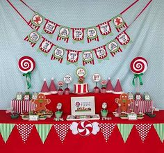 candy christmas birthday party