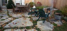 New England fieldstone patio
