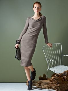 Long Sleeve Cowl Neck Dress 10/2014- omg yes yes yes