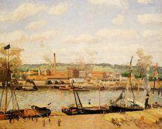 Camille Pissarro - Vue de la filature de coton à Oissel, près de Rouen